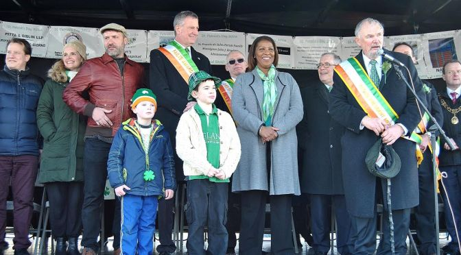 St.Patrick's Day Parade draws attention from everyone!