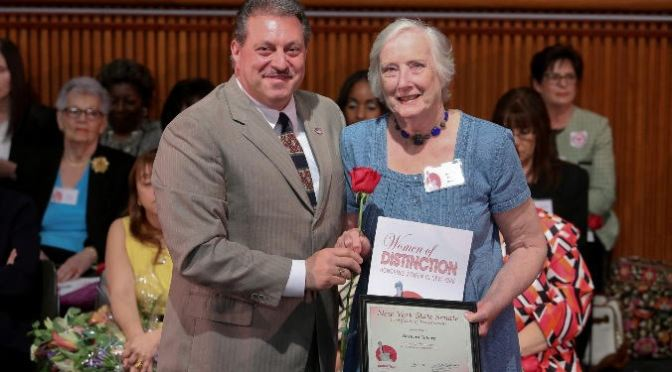 "ADDABBO HONORS BROAD CHANNEL RESIDENT DURING ""WOMEN OF DISTINCTION"" CEREMONY IN ALBANY"