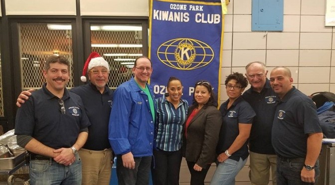 Ozone Park Kiwanis Club Host Christmas Dinner for PS/MS 183Q Families