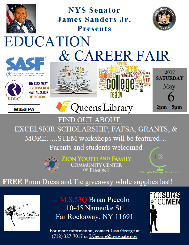 Sanders to Host Education & Career Fair