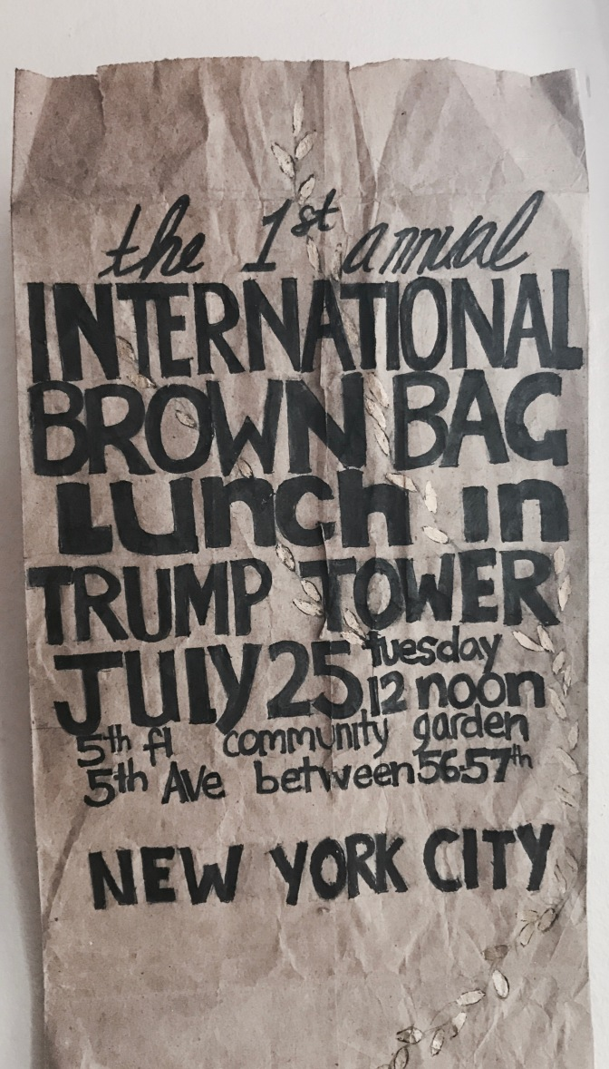 1st Annual International Brown Bag Lunch at Trump Tower Community Garden.
