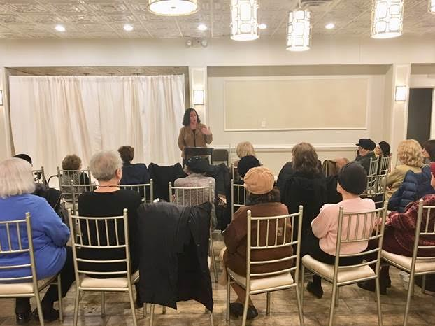 Pheffer Amato Speaks at Emunah of America Membership Tea in Far Rockaway